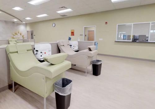 Bright, open interior of plasma center.