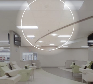 Ceiling tiles in plasma center