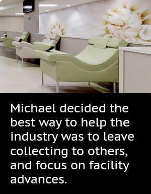 Michael decided the best way to help the industry was to leave collecting to others, and focus on facility advances.