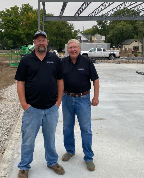 Michael Stough at construction site.